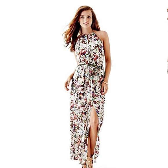 Maxi Jurk Halter.Guess Dresses Floral Halter Maxi Dress Poshmark